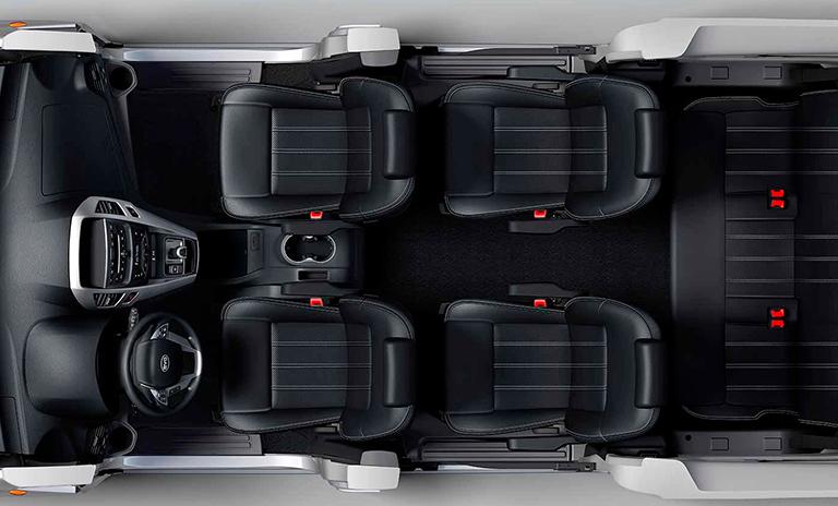 Espacio interno de las camionetas eléctricas M3