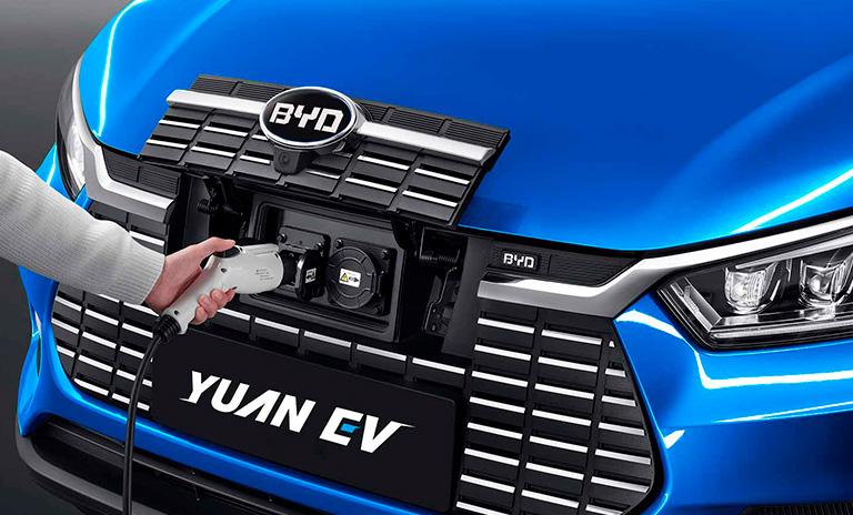 Punto de carga de las camionetas eléctricas Yuan EV