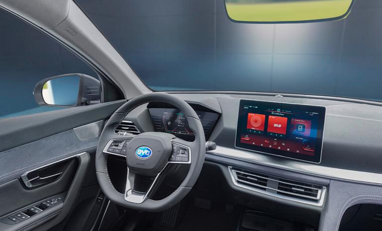 Vista interior 360 grados de los carros eléctricos e3 HB