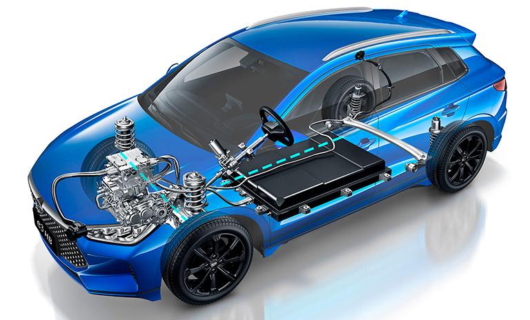 Sistema eléctrico de los carros eléctricos BYD