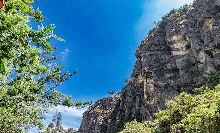Montaña para escalar en Suesca